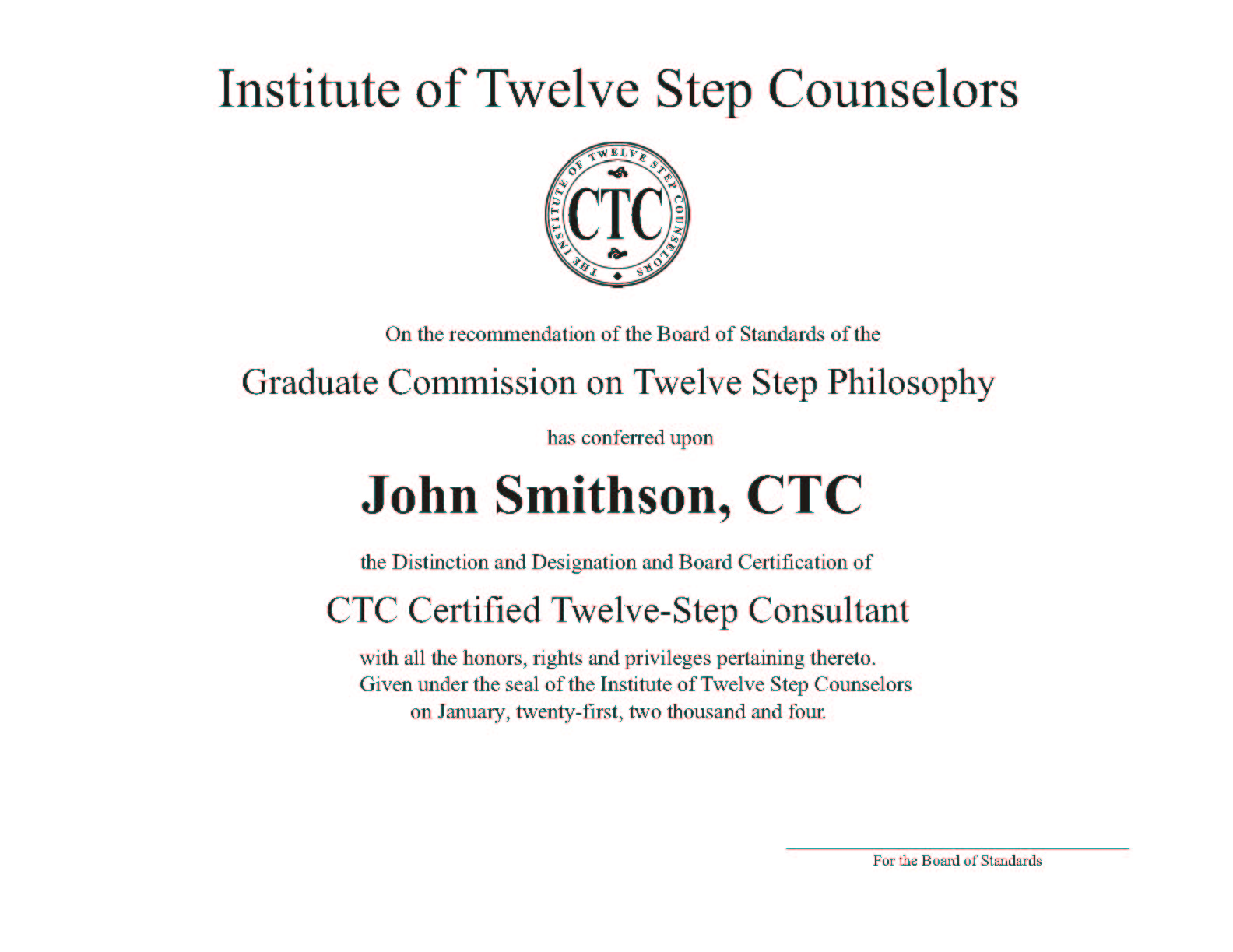 Addiction counselor substance abuse counselor addiction treatment certified in 12 step program with addiction counselor and substance abuse counselor 12 step board certification ctc xflitez Choice Image